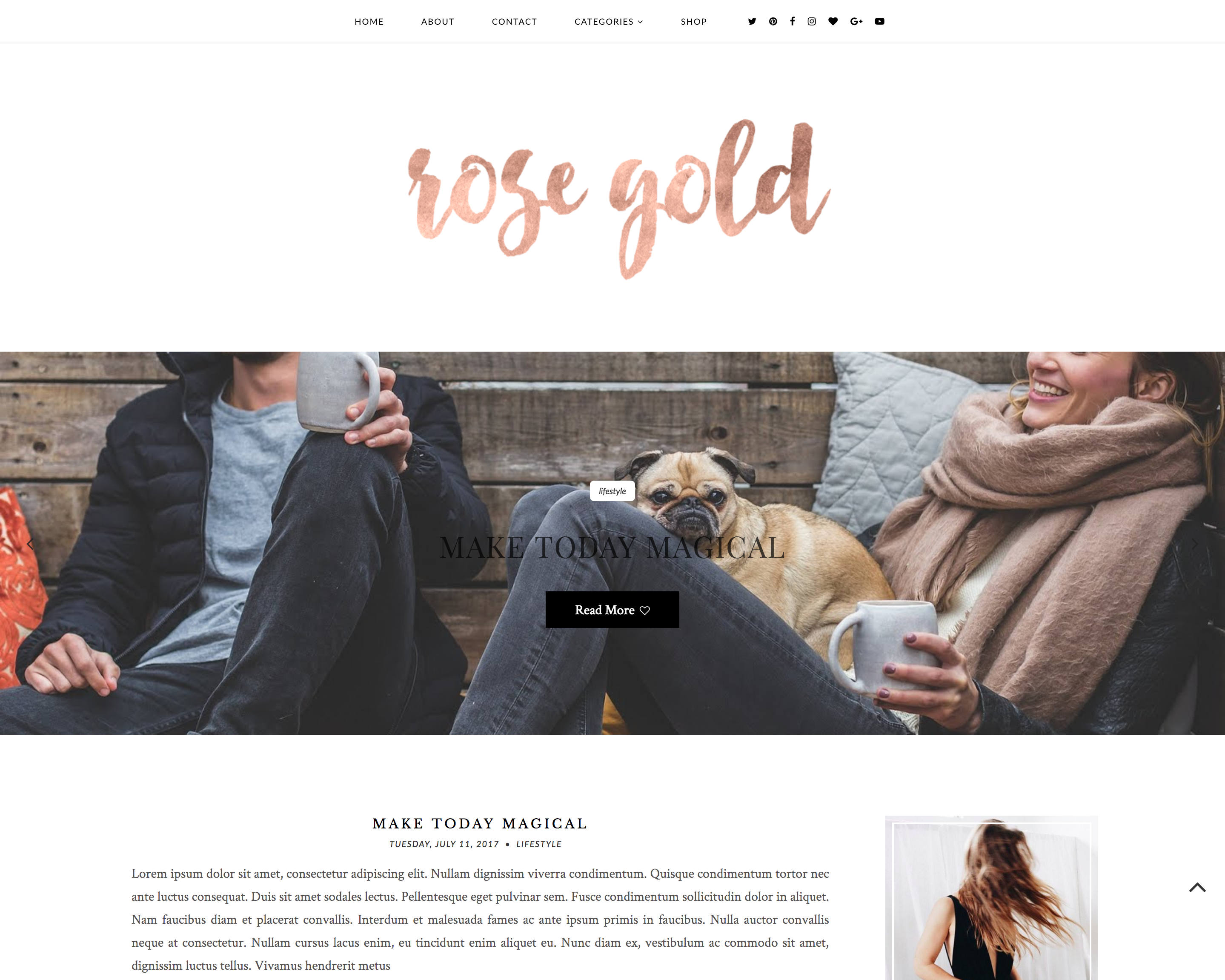 NEU vorgefertigte Rose Gold Blogger-Template responsives