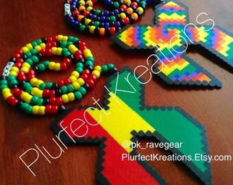 Excision Perler Kandi Necklace (custom-choose your color or design)