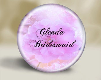 Personalized lavendar flower pocket mirror, Bridesmaid gift, Wedding,Shower gift, Bridal Party, Small gift, Thank you, Coworker,Prom, lilac