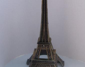 Souvenir de Paris Eiffel tower .Metal tower . Tour Eiffel 1950
