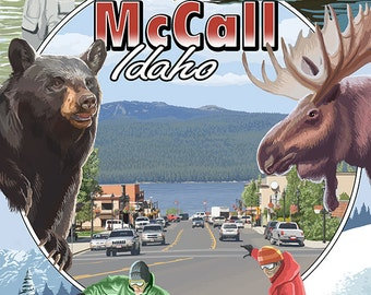 McCall, Idaho - Montage (Art Prints available in multiple sizes)