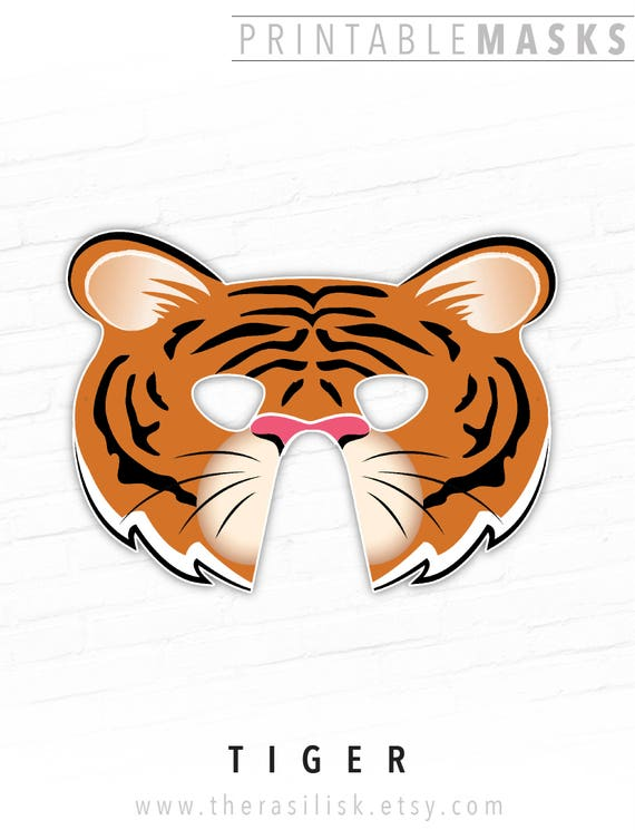 It is a picture of Candid Tiger Mask Printable