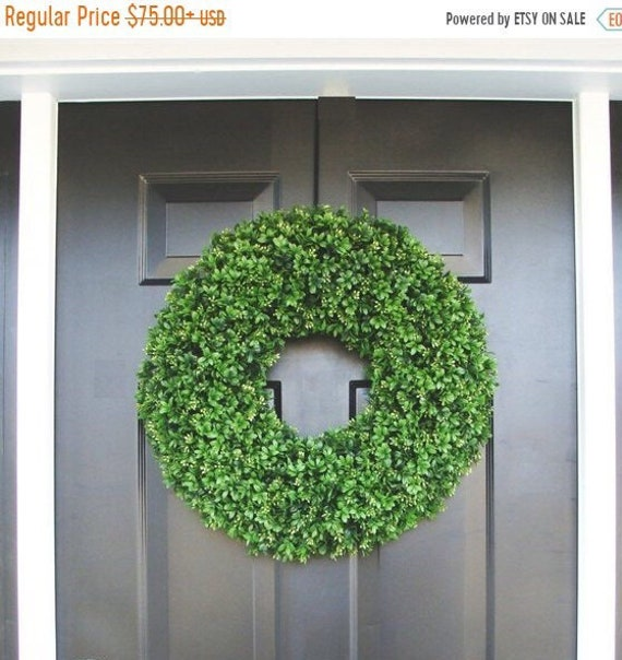 SUMMER WREATH SALE Faux Boxwood Wreaths- Boxwood Decor- Year Round Wreaths- Spring Wreath Decor- Wall Art- Sizes 16-26 inches