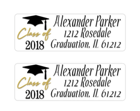 Graduation Address Label Class Of  Return Address Label
