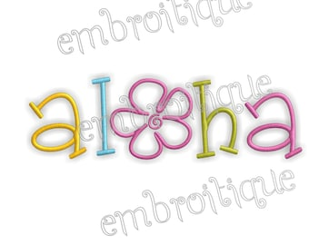 Aloha Summer Tropical - Instant Download Machine embroidery design