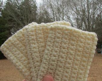 Eco Tawashis  crocheted acrylic scrubbie set of three