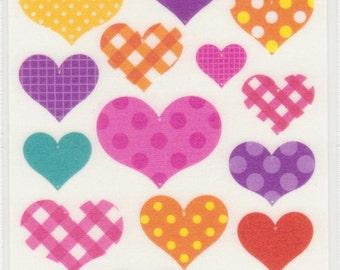 Heart Stickers - Mind Wave - Reference F950F957F1256F1518F1629F1971-72F2414