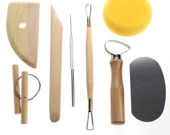 8 Pcs Pottery Tools For Ceramic & Clay - Original In bag