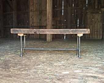 Sit By Me Bench Reclaimed Wood Bench Farmhouse Bench Entry Bench Shabby Chic