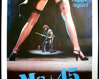 MS. 45 ~ Original 1981 U.S. 1 Sheet! Rare ROLLED MP in Fine Condition! Abel Ferrara's Grindhouse Classic! Sexy Art of Star Zoe Tamerlis!