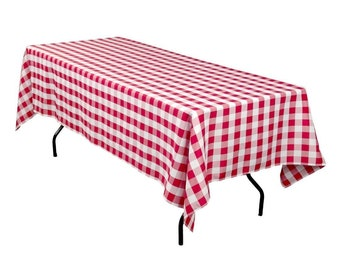 Bon Red And White Checker Polyester Tablecloth | Square Or Rectangular |  Wedding Tablecloth, Banquet Table Cover, Event U0026 Party Linen