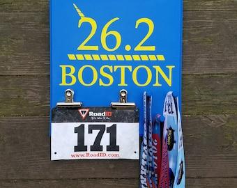 Boston Marathon 26.2 Bib and Medal Display Rack