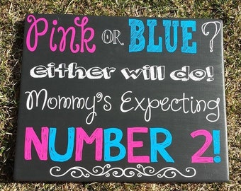 Mommy's Expecting Announcement Sign