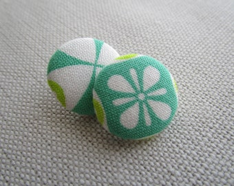 Green Morocco Shank Button 19mm