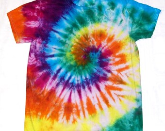 Tie Dye Shirt Spiral 100% Cotton