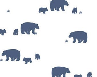 Bear Crib Bedding Navy Blue White Bear Crib Sheet - Woodland Nursery Bedding -Mini Crib Bedding Set -Changing Pad Covers -Fitted Baby Sheet