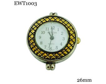 Two Tone Beading Watch Face Round 26mm