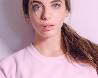 Basic Logo Sweater- Pink