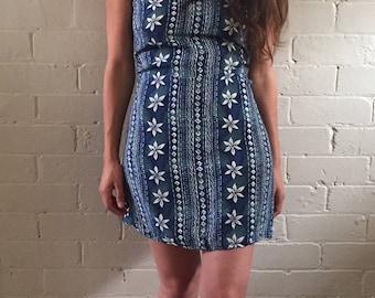 Holiday Printed Mini Dress
