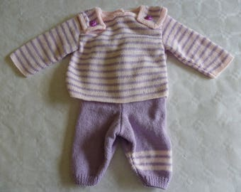 overall pants pink and mauve jacket 3 months