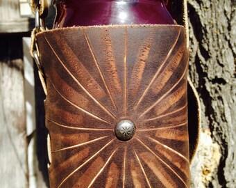 Leather Mason Jar Carrier
