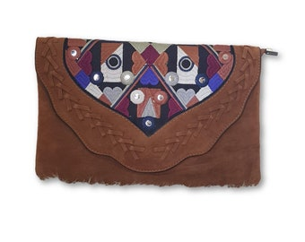 Ethnic Bag Camle Suede