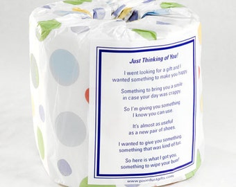 Just Thinking Of You Toilet Paper Card - Printable PDF