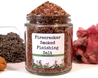 Firecracker Smoked Salt/Finishing Salt/Rimming Salt/Food Gift/Gifts For Foodies/Foodie Gift/Seasonings Gifts/Kitchen Pantry/Chef Gift