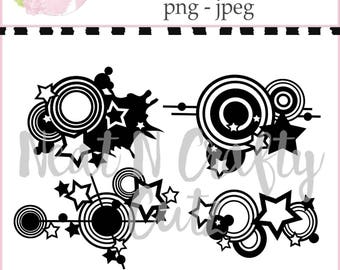 Grunge set cut files. For scrapbooking and paper crafting