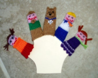 Mystery Dog and his Gang Finger Puppet Set.  We can create custom orders of individual puppets or puppet sets.