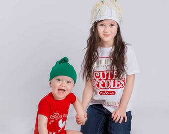 Ramen/Sriracha Combo Deal: Ramen Outfit Set + Sriracha Outfit for Siblings