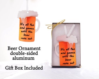 Beer Ornament ~  Craft Beer Ornament ~ 2 sided