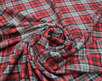 PRE CUT***Cotton Flannel Plaid #6 Tartan Fabric