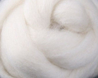 Natural White Corriedale Wool Roving  Undyed One Ounce for Felting and Spinning