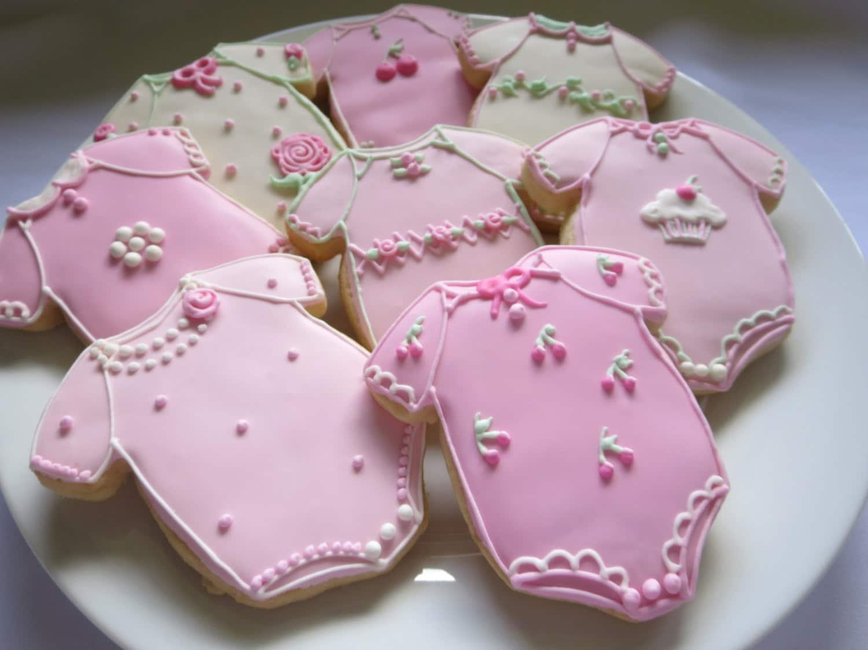 Baby Shower Cookies Baby Girl Cookies Onesie Baby Cookies