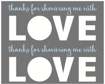 Showering Me with Love - GREY / BABY BLUE