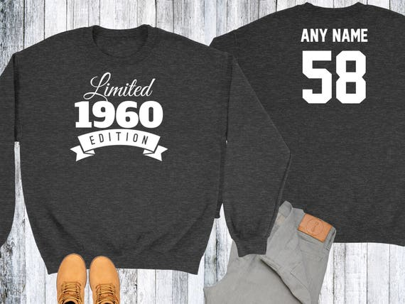 58 Year Old Birthday Sweatshirt Limited Edition 1960 Birthday Sweater 58th Birthday Celebration Sweater Birthday Gift mnbiP4b