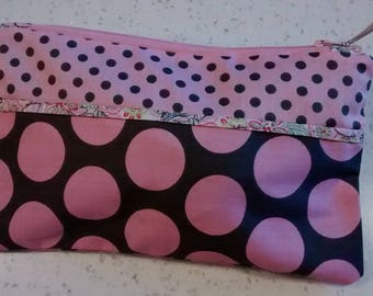 Mother's day gift... Kit Brown and pink polka dots and flowers