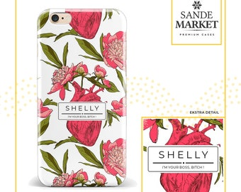 Personalized phone case, tropical phone case, personalized phone case iphone x, iphone 8 case, samsung galaxy s7 case, samsung galaxy s8
