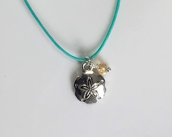 Sand Dollar Necklace Sand Dollar Pendant Summer Jewelry Beach Jewelry Beach Charm Colorful Minimalist Jewelry Summer Necklace Spring Sale