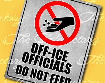 Off-Ice Officials - Hockey Road Sign - Digital Image