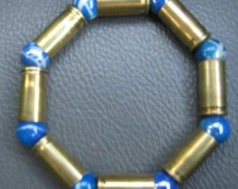 Recycled 32 Caliber REAL Bullet Casings Bracelet Brass Jewlery