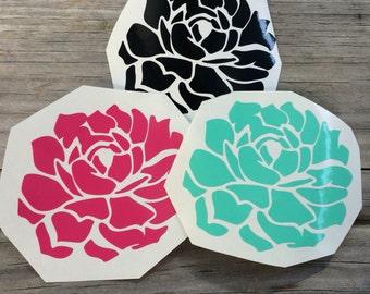 Succulent Vinyl Decal, Vinyl Stickers, flower Laptop Decal, succulent Car Sticker, Laptop Sticker, Car Decal, Succulent Sticker