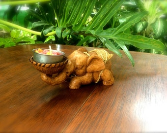 Small Elephant Candleholder - The Elephant in the Room