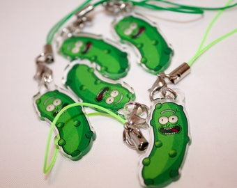 Pickle Rick Charm [Rick and Morty / Fan Art / Phone / Keychain ]