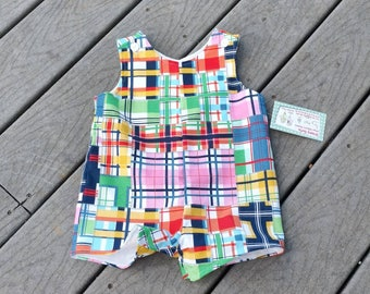 Boys Easter Outfit - Boys Jon Jons - Boys Birthday Outfit - Madras  Patch - Boysrtall -  Jon Jon -  Toddler Boy Clothing - Groovy Gurlz