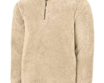 Unisex Fleece Sherpa - Sand - Embroidery Option
