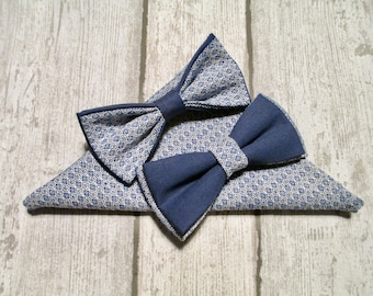 Bowtie for men blue handmade  - perfect gift idea
