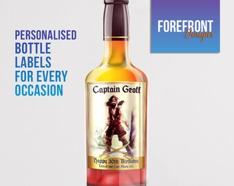 Personalised WHISKEY bottle label-Ideal Celebration/Anniversary/Birthday/Wedding gift personalized bottle label