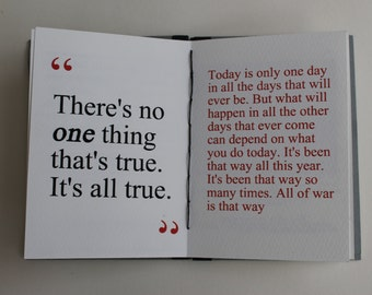 Artist's book  Ernest Hemingway, coptic stitched  handmade book, hand bound book, literary gift , writer's gift, artist's gift, book gift